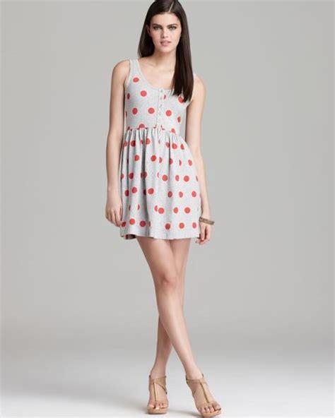 Mel Dres Pink connection polka dots dress in pink grey mel