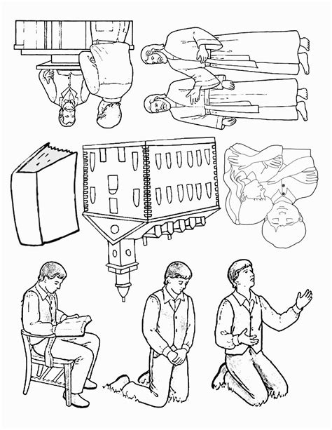 Coloring Page Joseph Smith Vision by Joseph Smith Vision Coloring Page Coloring Pages