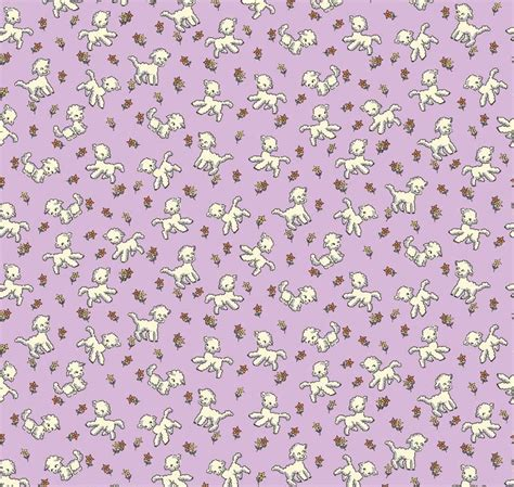lambs and l lambs on lilac forest fabrics