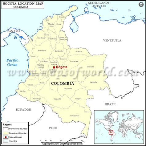 south america map bogota where is bogota location of bogota in colombia map