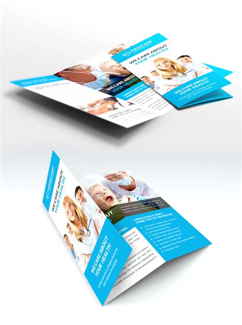brochure design templates psd free care and hospital trifold brochure template free