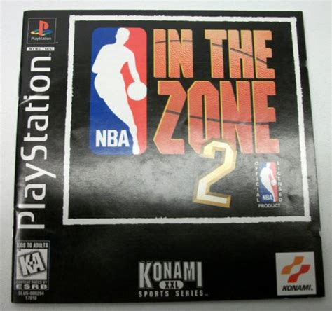 Nba In The Zone 2 Playstation 1 Instruction Manual Only