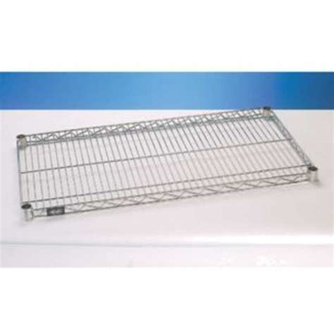 nexel chrome 14x24 standard wire shelf s1424c