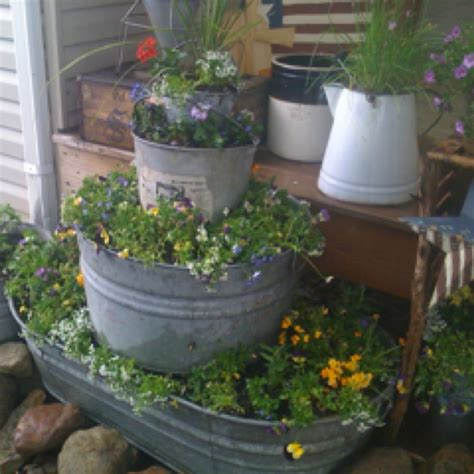 Garden Tubs And Planters by Galvanized Tub Planters