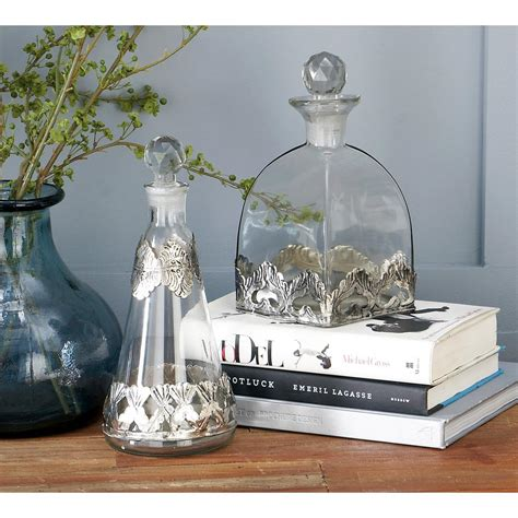 decorative glass home depot clear decorative glass bottles set of 3 94958 the home