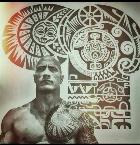 dwayne johnson buffalo tattoo 25 best ideas about polynesian tattoo sleeve on pinterest