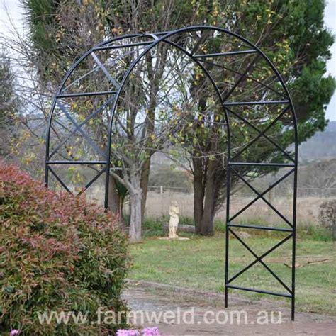 Garden Arch Metal Black Garden Arches Arbours Farmweld