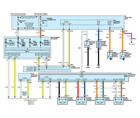 service manual electronic stability control 2009 kia kia optima circuit diagram esc 1 schematic diagrams esc electronic stability control