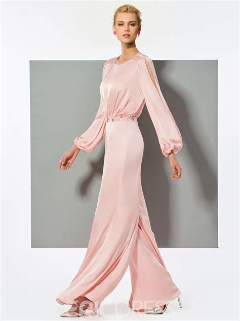 ericdress   long sleeve beaded long prom jumpsuit