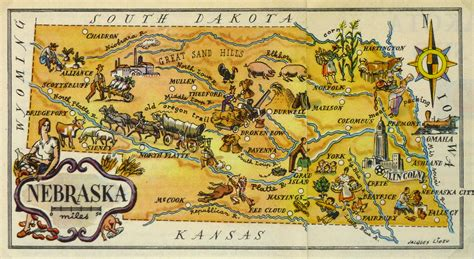 nebraska pictorial map