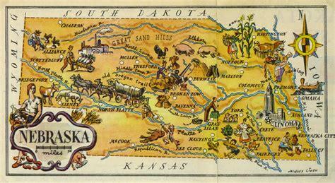 nebraska pictorial map