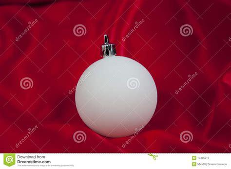 White Balls Ornaments - white tree ornaments royalty free stock