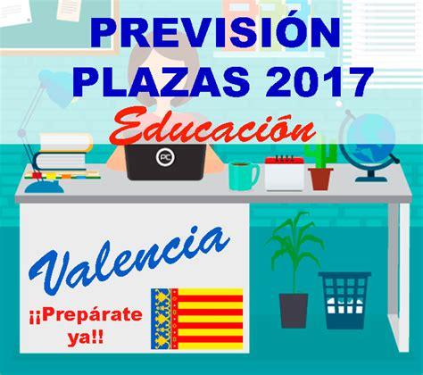 convocatorias comunidad valenciana 2016 i 2017 previsi 211 n convocatoria 2018 2019 educaci 211 n comunidad