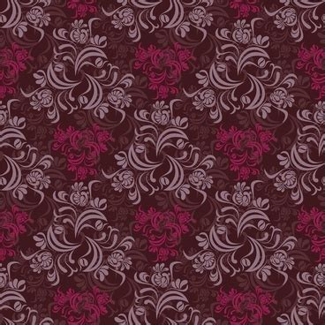 vector flower pattern cdr free seamless floral background vector free vector