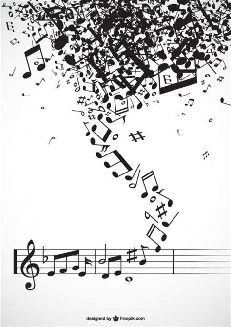 imagenes musicales descargar tornado de notas musicales descargar vectores gratis