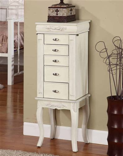 white standing jewelry armoire lovely white jewelry armoire antique style with six drawers