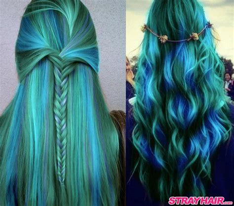 hair colors for green amazing borealis hair color strayhair