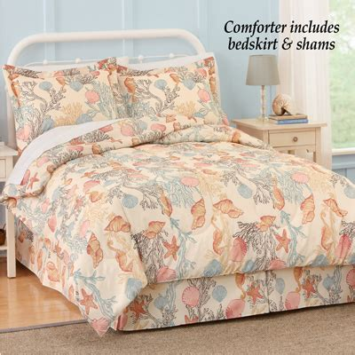 under the sea bedroom comforter set with bedskirt from