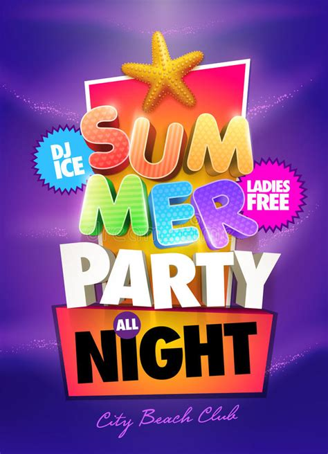 poster design vector file summer night party stock vector image 39504349