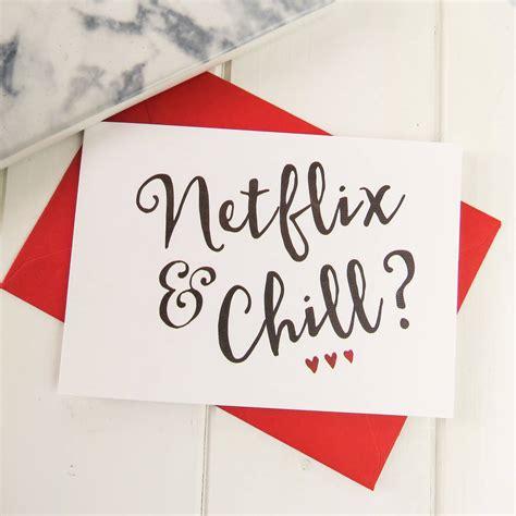 valentines netflix netflix and chill valentines card by emporium