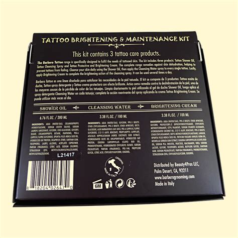 tattoo maintenance brightening maintenance kit barbero