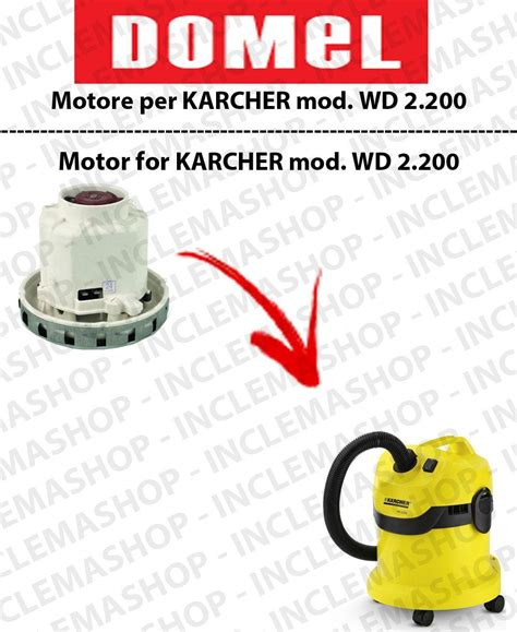 Karcher Wd 2 200 Vacuum Cleaner By wd 2 200 vacuum motor domel for vacuum cleaner karcher