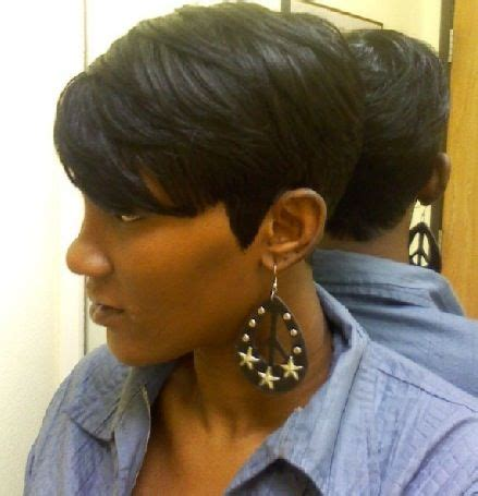 black women with 29 peice hairstyle shondra s quick weave hairstyles short side view short