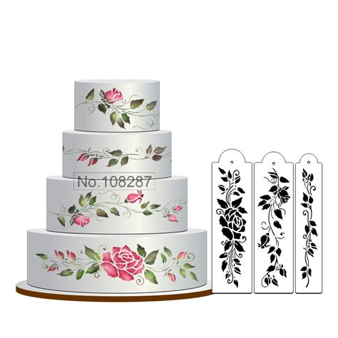 cake decorating stencils aliexpress buy cake stencil set flowers cake