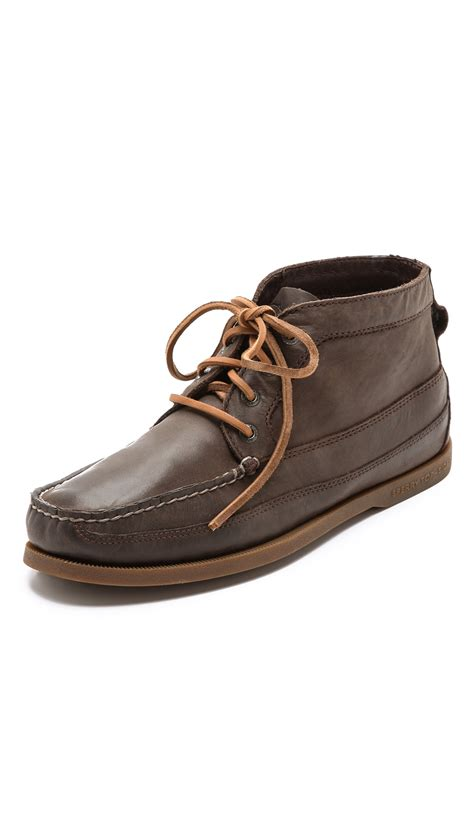 sperry boots mens sperry top sider boat chukka boots in brown for lyst