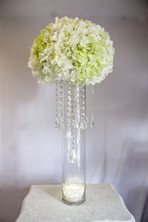 Budget Silk Wedding Flowers by How To Make A Wedding Centerpiece Using Crystals Chain