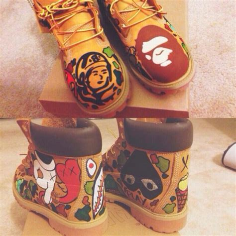 colorful timberland boots shoes timberlands artsy colorful swag wheretoget