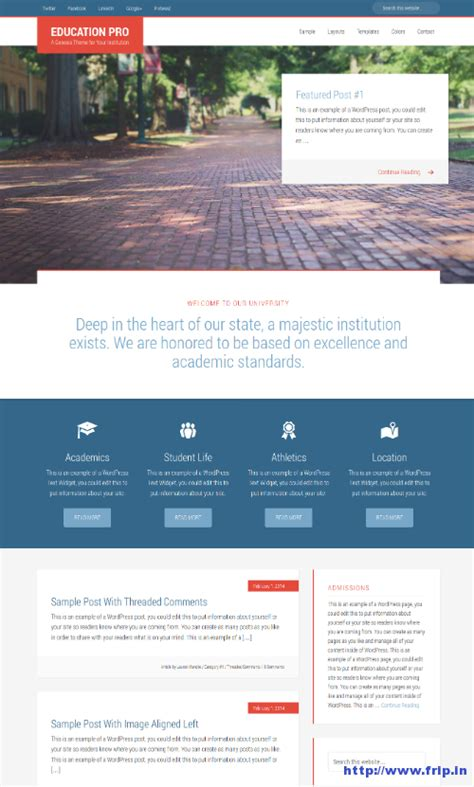 theme education pro 35 best education wordpress themes 2014 for colleges