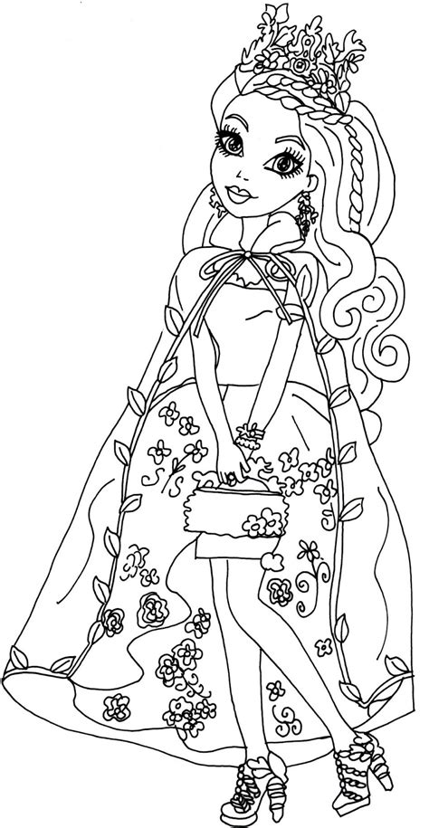 coloring page ever after high free printable ever after high coloring pages ashlynn