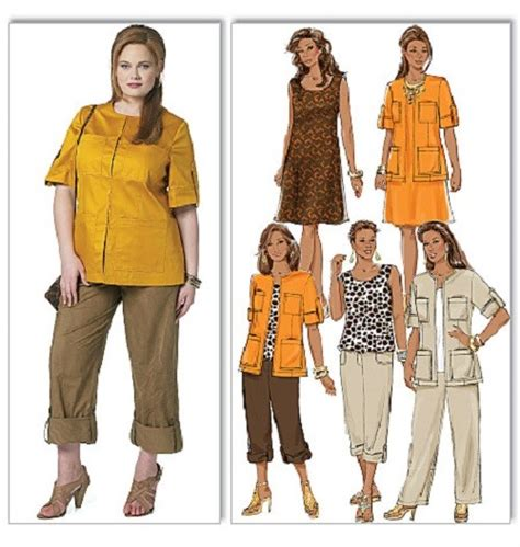 butterick sewing pattern misses dresses and tops w