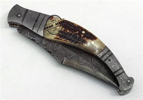 Custom Handmade Folding Knives - best damascus folding knife custom handmade damascus steel
