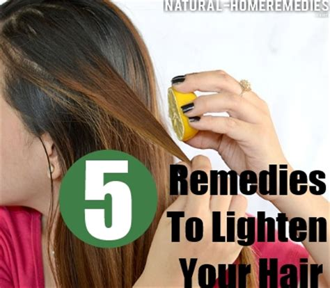 remedies remedies to lighten hair
