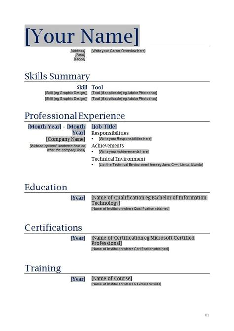 does microsoft office have resume templates best resume