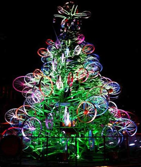 bicycle art christmas tree bicycle and adventure activities west cycles west cycles
