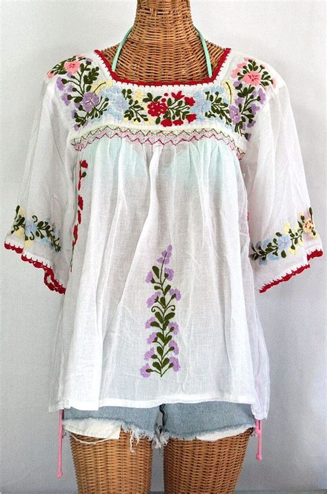 quot la marina quot mexican embroidered peasant blouse classic