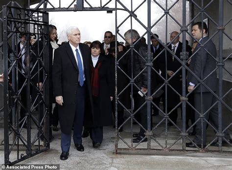 pence and wife to get tour of new digs mike pence visits former nazi concentration c dachau