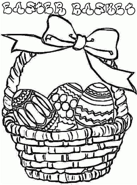 coloring page of empty easter basket empty easter basket coloring page 481132