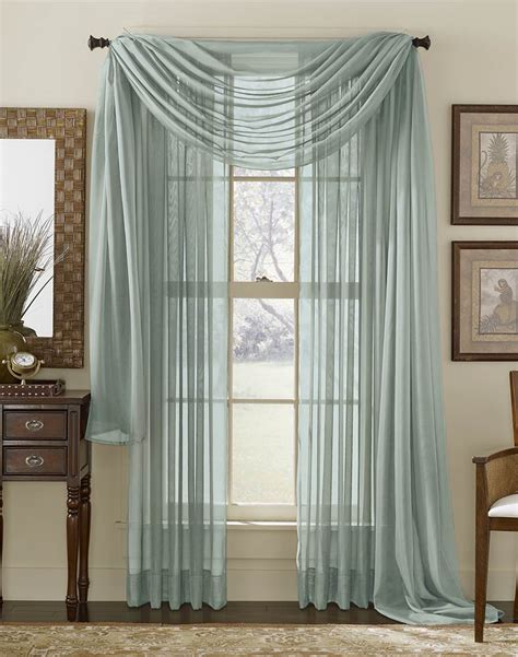 Voile Sheer Curtains Platinum Voile Flowing Sheer Wide Width Panel Curtainworks