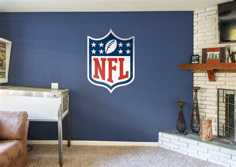 nfl bedrooms nfl logo wall decal shop fathead 174 for nfl decor