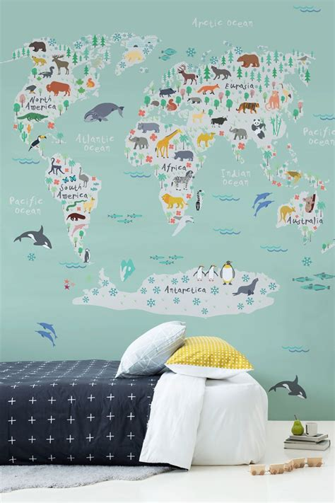 World Map In Bedroom by Best 25 World Map Wallpaper Ideas On World