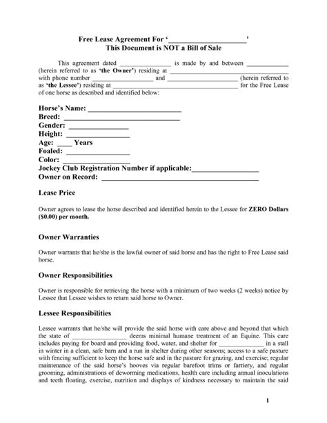 lease agreement template free 38 editable blank rental and lease agreements ready to