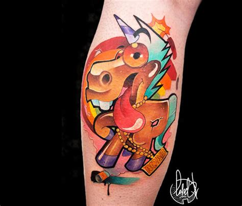new school unicorn tattoo unicorn tattoo by lehel nyeste no 1031