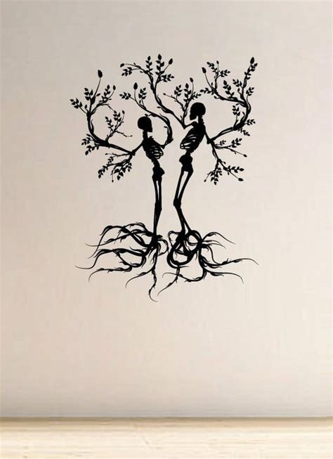 couples tree tattoos scull tree branch vinyl wall vinyls awesome and glasses