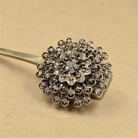 crystal drapery holdbacks retro crystal flower magnetic curtain tiebacks clips