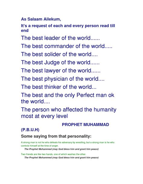 prophet muhammad biography quiz prophet muhammad quotes about life quotesgram