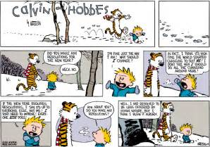 calvin and hobbes new years resolution calvin hobbes resolutions 5 on target